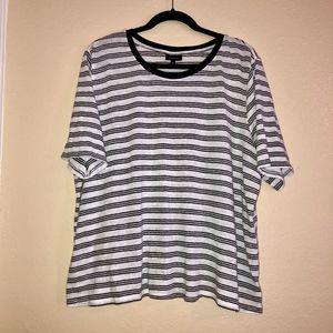 Who What Wear Linen Blend Black White Shirt 3X